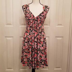 Dressbarn sz6p roses sweetheart neckline dress